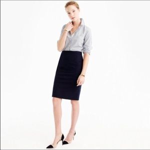 J. Crew Four Season Stretch No. 2 Pencil Skirt Sz0